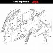VISTA EXPLODIDA PEÇAS P/ PARAFUSADEIRA FURADEIRA À BATERIA SKIL 6062 - F012606202 - 220 V