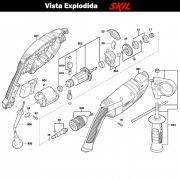 VISTA EXPLODIDA PEÇAS P/ PARAFUSADEIRA FURADEIRA À BATERIA SKIL 6070 - F012607002 - 220 V
