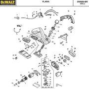 VISTA EXPLODIDA PEÇAS P/ PLAINA DEWALT DW680 BR TIPO 2 - 110V