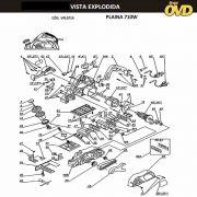 VISTA EXPLODIDA PEÇAS P/ PLAINA DWT HB0282 - 110V 220V
