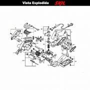 VISTA EXPLODIDA PEÇAS P/ PLAINA SKIL 1555 - F012155501 - 127 V
