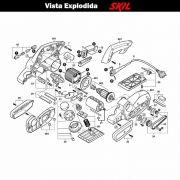 VISTA EXPLODIDA PEÇAS P/ PLAINA SKIL 1570 - F012157001 - 127 V