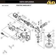 VISTA EXPLODIDA PEÇAS P/ POLITRIZ AWT PAA470 - 110V 220V