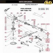VISTA EXPLODIDA PEÇAS P/ POLITRIZ DWT OP180TV - 110V 220V
