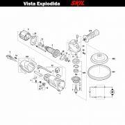 VISTA EXPLODIDA PEÇAS P/ POLITRIZ SKIL 9051 - F012905101 - 127 V