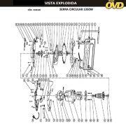 VISTA EXPLODIDA PEÇAS P/ SERRA CIRCULAR AWT HKS190VS1 - 110V 220V