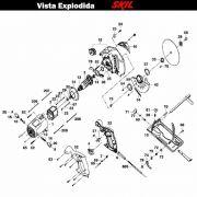 VISTA EXPLODIDA PEÇAS P/ SERRA CIRCULAR SKIL 5401 - F012540102 - 220 V