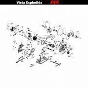 VISTA EXPLODIDA PEÇAS P/ SERRA CIRCULAR SKIL 5601 - F012560101 - 127 V