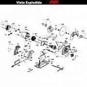 VISTA EXPLODIDA PEÇAS P/ SERRA CIRCULAR SKIL 5601 - F012560102 - 220 V