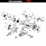VISTA EXPLODIDA PEÇAS P/ SERRA CIRCULAR SKIL 5801 - F012580101 - 127 V