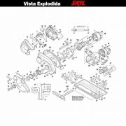 VISTA EXPLODIDA PEÇAS P/ SERRA CIRCULAR SKIL 5885 - F012588502 - 230 V