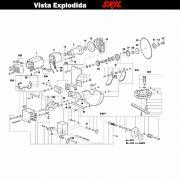 VISTA EXPLODIDA PEÇAS P/ SERRA DE MESA SKIL 3610 - F012361001 - 110V 220V