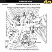 VISTA EXPLODIDA PEÇAS P/ SERRA ESQUADRIA AWT KGS255 - 110V 220V