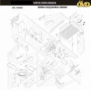 VISTA EXPLODIDA PEÇAS P/ SERRA ESQUADRIA AWT KGST305 - 110V 220V