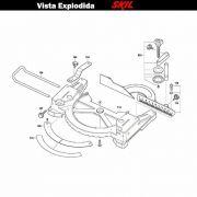 VISTA EXPLODIDA PEÇAS P/ SERRA ESQUADRIA SKIL 3310 - F012331001 - 127 V