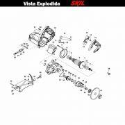 VISTA EXPLODIDA PEÇAS P/ SERRA MÁRMORE SKIL 9815 - F012981502 - 220 V