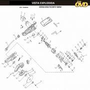 VISTA EXPLODIDA PEÇAS P/ SERRA MULTICORTE AWT MC500 - 110V 220V