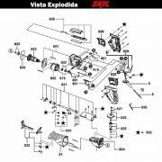 VISTA EXPLODIDA PEÇAS P/ SERRA SABRE SKIL 4900 - F012490001 - 127 V