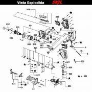 VISTA EXPLODIDA PEÇAS P/ SERRA SABRE SKIL 4900 - F012490002 - 220 V