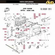 VISTA EXPLODIDA PEÇAS P/ SERRA TICO TICO DWT STS400VS - 110V 220V