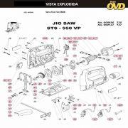 VISTA EXPLODIDA PEÇAS P/ SERRA TICO TICO DWT STS550VP - 110V 220V