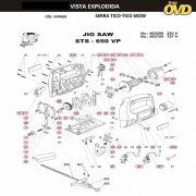 VISTA EXPLODIDA PEÇAS P/ SERRA TICO TICO DWT STS650VP - 110V 220V