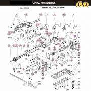 VISTA EXPLODIDA PEÇAS P/ SERRA TICO TICO DWT STS750VP - 110V 220V
