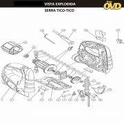 VISTA EXPLODIDA PEÇAS P/ SERRA TICO TICO DWT TTD400 - 110V 220V