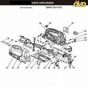 VISTA EXPLODIDA PEÇAS P/ SERRA TICO TICO DWT TTD800 - 110V 220V