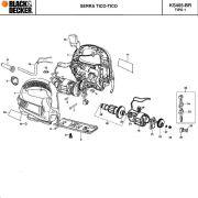 VISTA EXPLODIDA PEÇAS P/ SERRA TICO TICO KS405 BR TIPO 1 - 110V