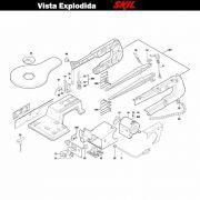 VISTA EXPLODIDA PEÇAS P/ SERRA TICO-TICO SKIL 3335 - F012333501 - 127 V