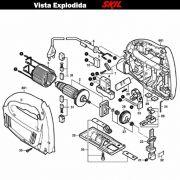 VISTA EXPLODIDA PEÇAS P/ SERRA TICO-TICO SKIL 4170 - F012417001 - 127 V