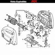 VISTA EXPLODIDA PEÇAS P/ SERRA TICO-TICO SKIL 4170 - F012417045 - 220 V
