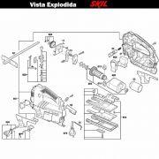 VISTA EXPLODIDA PEÇAS P/ SERRA TICO-TICO SKIL 4550 - F012455001 - 127 V
