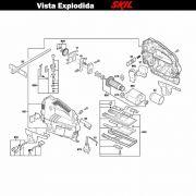 VISTA EXPLODIDA PEÇAS P/ SERRA TICO-TICO SKIL 4550 - F012455002 - 220 V