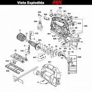 VISTA EXPLODIDA PEÇAS P/ SERRA TICO-TICO SKIL 4750 - F012475002 - 220 V