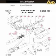 VISTA EXPLODIDA PEÇAS P/ SOPRADOR TÉRMICO DWT HLP1500 - 110V 220V