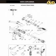 VISTA EXPLODIDA PEÇAS P/ SOPRADOR TÉRMICO DWT HLP20550 - 110V 220V
