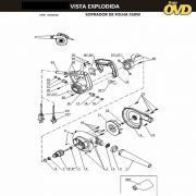 VISTA EXPLODIDA PEÇAS P/ SOPRADOR TÉRMICO DWT LS550 - 110V 220V