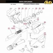 VISTA EXPLODIDA PEÇAS P/ SOPRADOR TÉRMICO DWT STD2000N - 110V 220V
