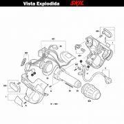 VISTA EXPLODIDA PEÇAS P/ SOPRADOR TÉRMICO SKIL 8005 - F012800502 - 220 V