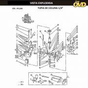 VISTA EXPLODIDA PEÇAS P/ TUPIA AWT F1200 - 110V 220V