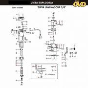 VISTA EXPLODIDA PEÇAS P/ TUPIA AWT F550 - 110V 220V