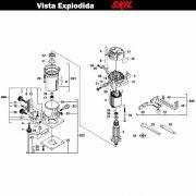 VISTA EXPLODIDA PEÇAS P/ TUPIA SKIL 1800 - F0121800AB - 127 V