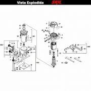 VISTA EXPLODIDA PEÇAS P/ TUPIA SKIL 1800 - F0121800JA - 220 V