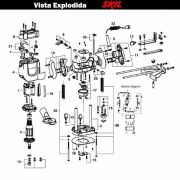 VISTA EXPLODIDA PEÇAS P/ TUPIA SKIL 1830 - F012183001 - 127 V