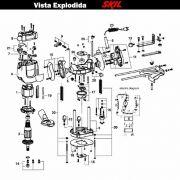 VISTA EXPLODIDA PEÇAS P/ TUPIA SKIL 1830 - F012183045 - 220 V