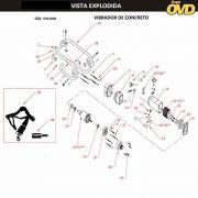 VISTA EXPLODIDA PEÇAS P/ VIBRADOR DE CONCRETO AWT VCA1600 - 110V 220V