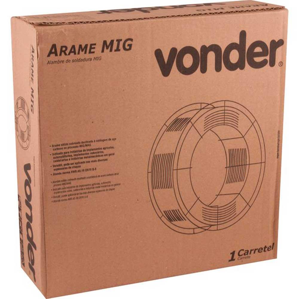Arame MIG Randômico 1,2 mm, carretel com 18 kg - VONDER