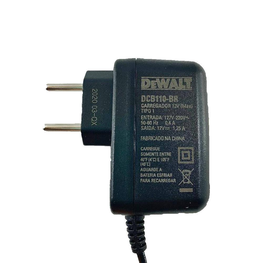 Carregador Bivolt DCB110 Lithium  Max Dewalt - N704963